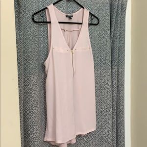 Express sleeveless top with zip front